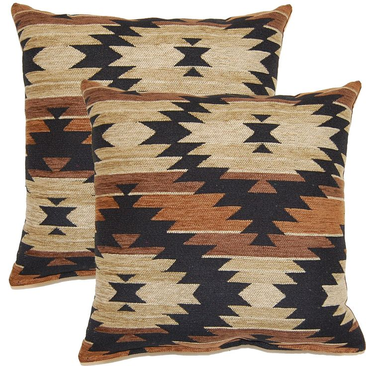 Tahoe Brown 17-inch Throw Pillows (Set of 2) Throw pillows