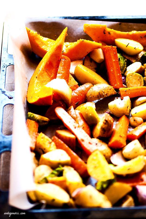 Légumes rôtis balsamaique, érable & herbes de provence