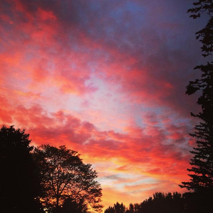 Sunset in Ottawa Canada