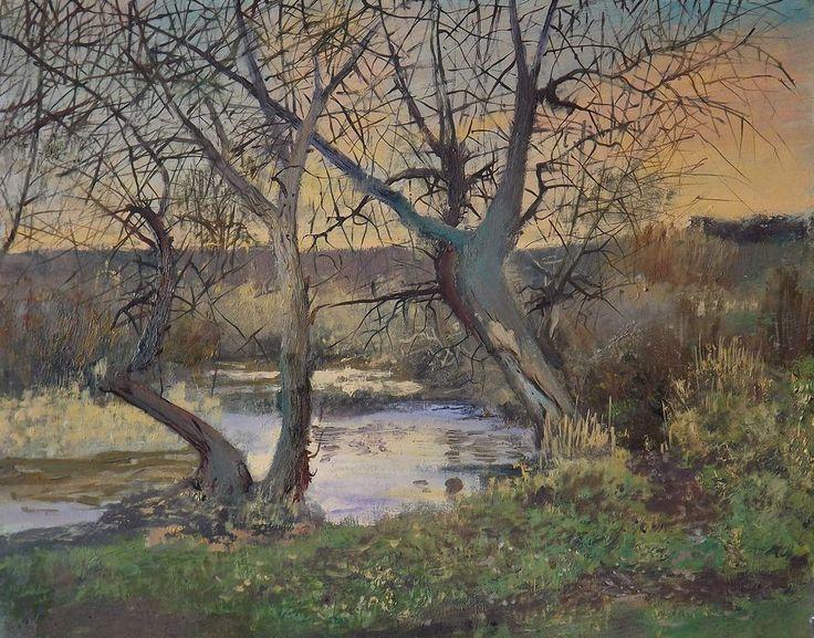 Evening on Olhovka river