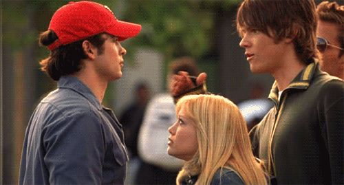 She got to stand in-between these two hotties in Cheaper by the Dozen.