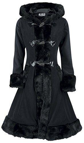 3204badef55b0 Poizen Industries Manteau Minx Manteau Femme noir M   Manteaux femme ...