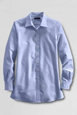 Women's Maternity Straight Collar Oxford Shirt from Lands' End $30