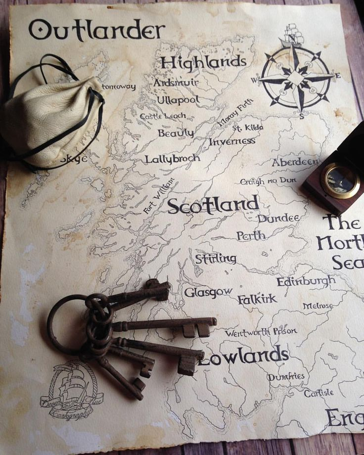 Outlander Clan — devenrue:   Outlander locations map of Scotland....