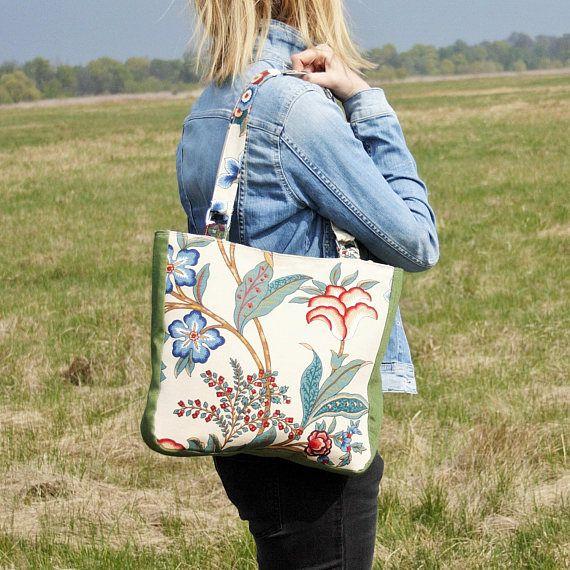 Everyday Floral Bag / Shoulder Women Bag / Canvas Floral