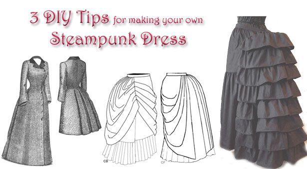 Image from http://steampunkdistrict.com/wp-content/uploads/2012/12/3-diy-tips-steampunk-dress.jpg.