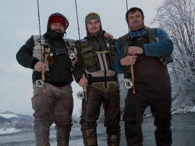 Igor Slavík a Luboš Roza, kamarádi, kteří kromě úspěšného závodního muškaření rovněž provozují stránky www.muskarskezavody.cz