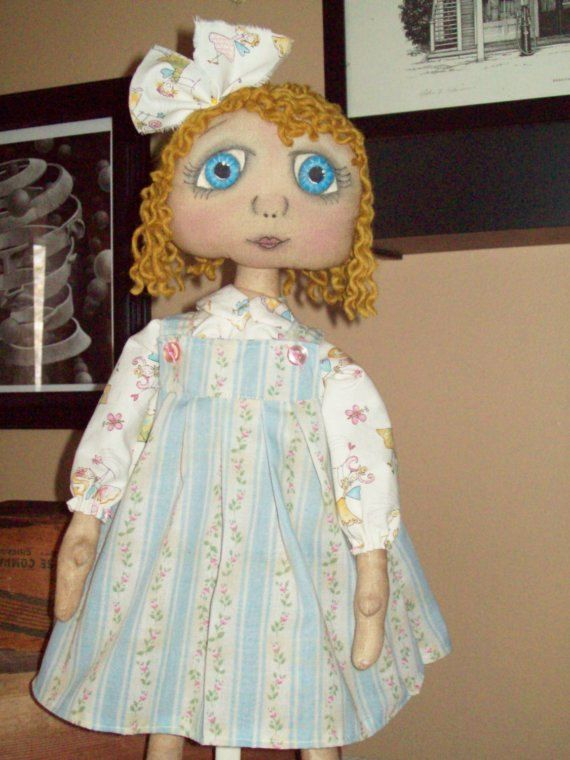"""Primitive doll e-pattern Special Blessings 20"""" doll with sweet painted eyes.. (HAFAIR) - pinned by pin4etsy.com"""