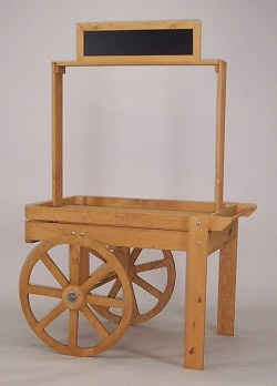 Wood Display Cart $274