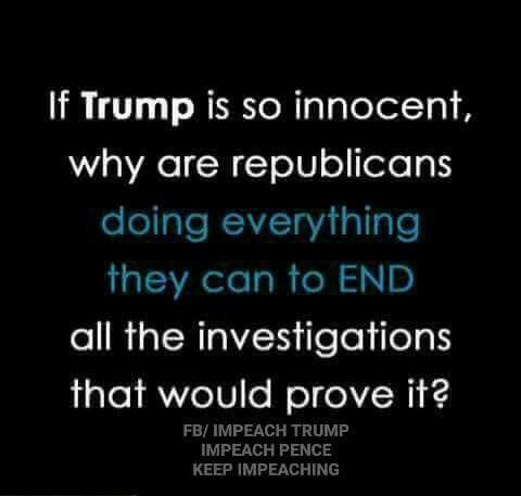 It's a very valid question. Why shut down an investigation that would prove him innocent? He, apparently, is NOT innocent.