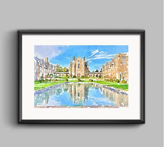 Custom Watercolor Print From Your Picture Digital Art Custom