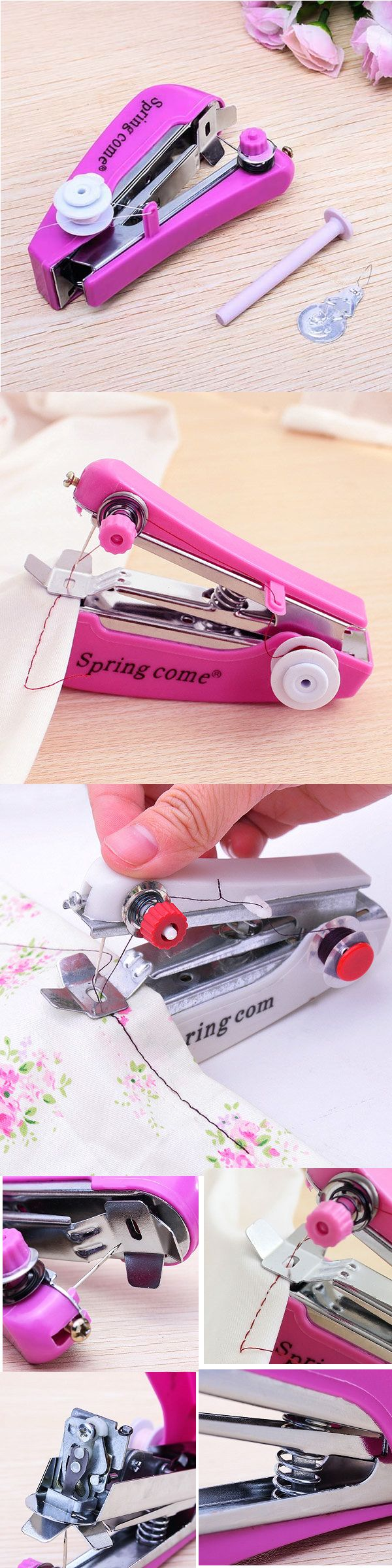 US$4.07 Portable Mini Manual Clothes Sewing Machine Handcraft DIY