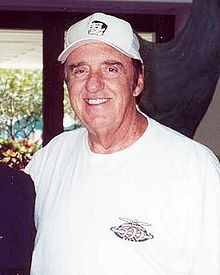 Jim Nabors (Gomer Pyle)   --From my hometown: Sylacauga, Al.  Got a pic of my Granddaddy with him, he came to see him at the hospital before he died.