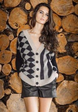 Harlequin Cardigan. Luxury limited edition knitwear. www.elkaknitwear.co.nz