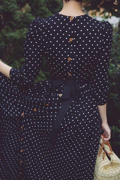 #street #style fall / polka dot