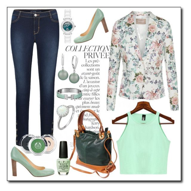 Floral green by amisha73 on Polyvore featuring moda, Kate Spade, The Body Shop and By Terry