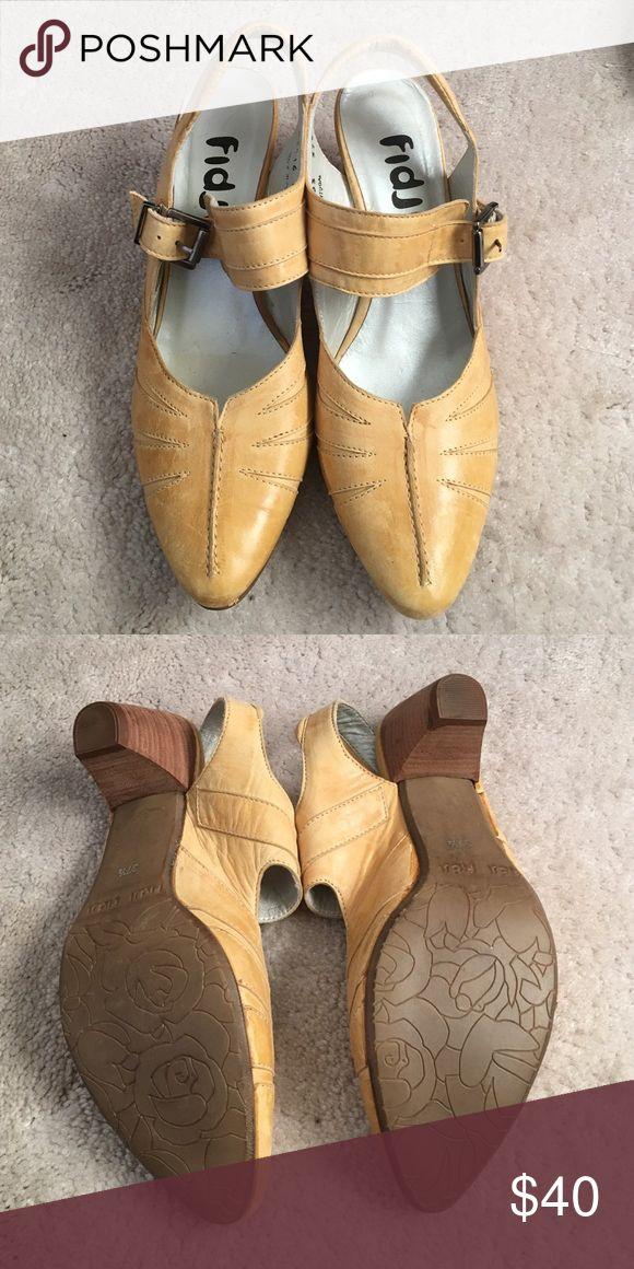 Fidji Vintage Leather Shoes EUC Authentic Fidji shoes. 100% Leather made in Portugal Vintage Shoes