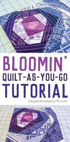 Quilt as you go is a fun technique for making quilt blocks. Here's a tutorial for creating this modern Bloomin' pattern.