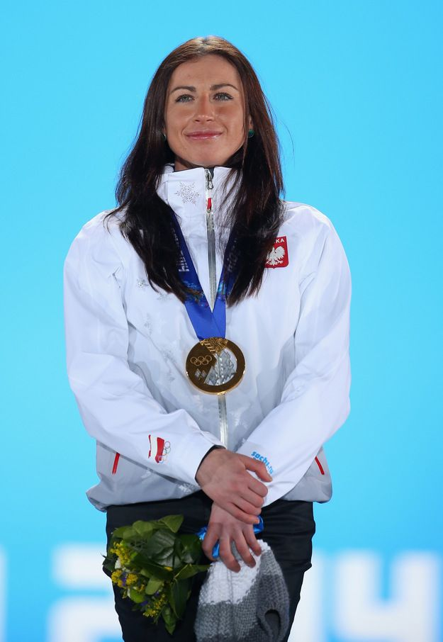 Justyna Kowalczyk, gold medalist for the Women's 10 km Classic. Winter Olympics in Sochi, Russia, 2014.