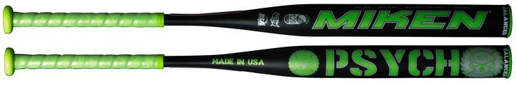 "2017 Miken Psycho USSSA Balanced Slowpitch Bat:  ""HOT RIGHT OUT OF THE WRAPPER""  Order asap to Guarantee yourself this Bat from the First Batch run     This is a must have for the player wanting a balanced one-piece bat.   	1-Piece Design 	100% Composite 	Triple Matrix Core  	14"" Barrel – Balanced Weighting 	Approved for USSSA, NSA, ISA 	Made in the USA 	One Year Manufacturer's Warranty   Sizes:  34"" 25oz, 34"" 26oz, 34"" 27oz, 34"" 28oz    Composite Softball Bats are Stiff whe..."