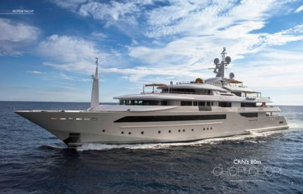 CRN's 80m Chopi Chopi. When ordering Chopi Chopi from Ferretti Group's CRN yacht builder, the owner specified...