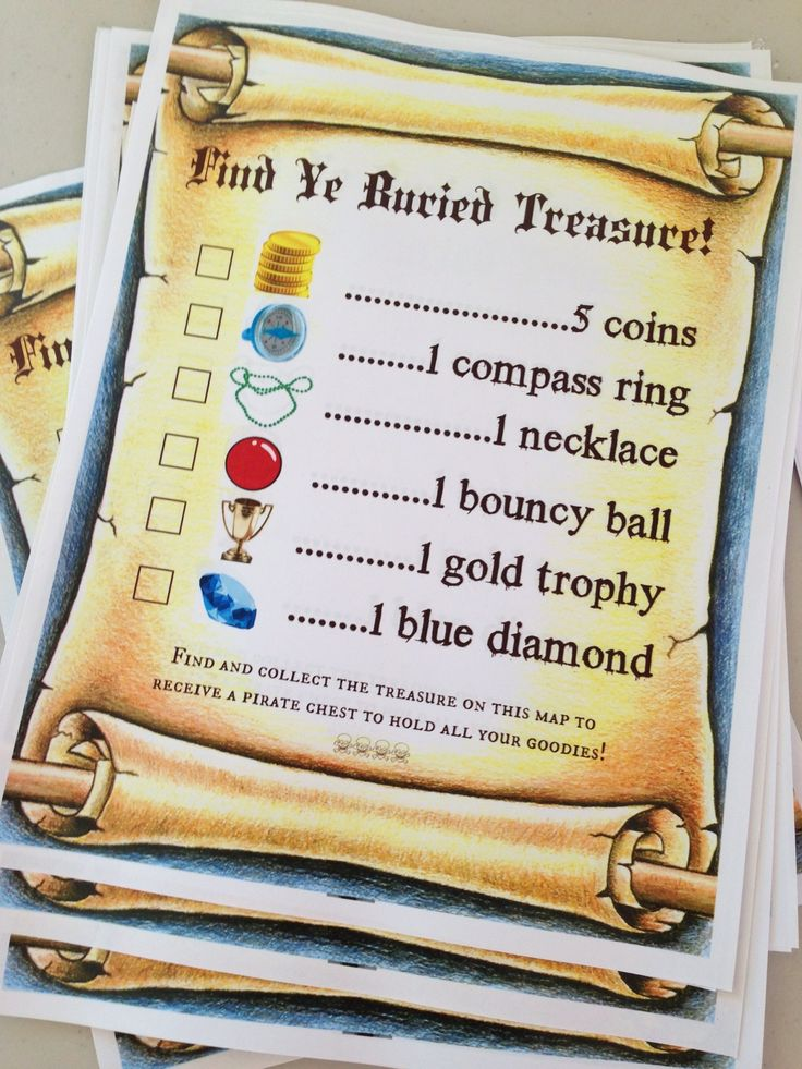 how to plan a treasure hunt for a birthday party