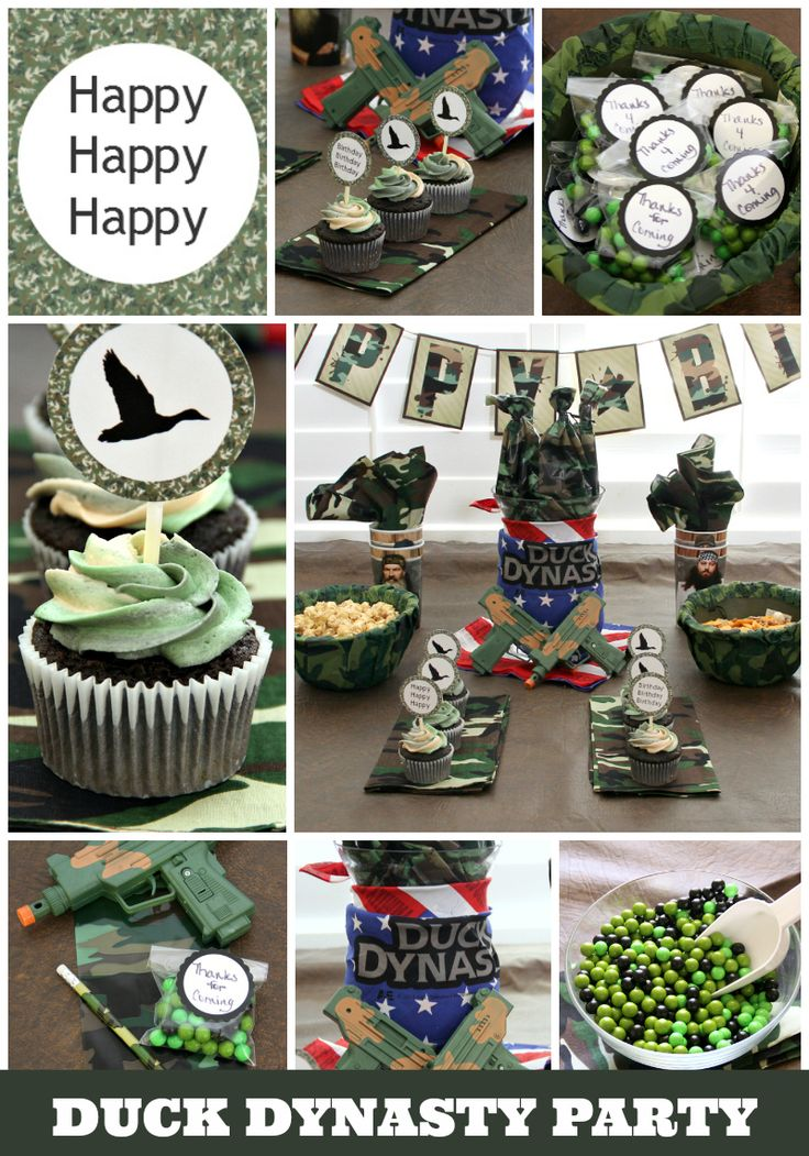 Duck Dynasty Birthday Party ideas, printables, decorations, and cupcakes!