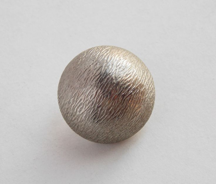 4 semi-sphere vintage buttons, silver shank buttons, 18mm metal buttons, demi sphere, sewing notions sewing supplies, embellishment. (B49) by LeVieuxGrenier on Etsy