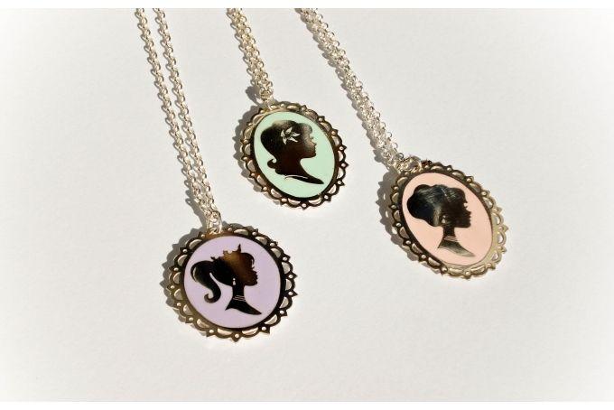 Silver Cameo Necklace by emma anne on hellopretty.co.za