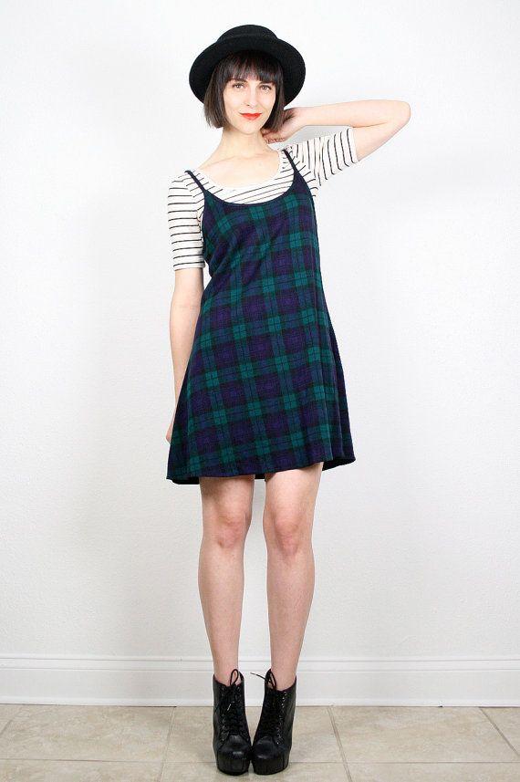 Vintage 90s Dress Grunge Dress Mini Dress by ShopTwitchVintage