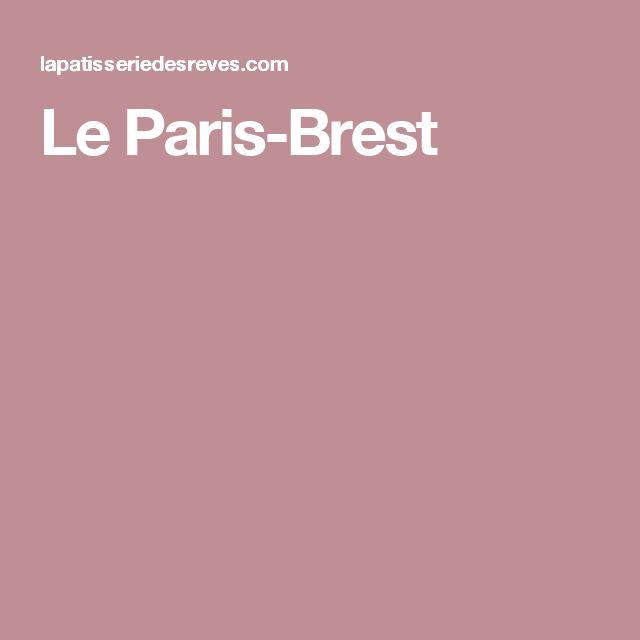 Le Paris-Brest
