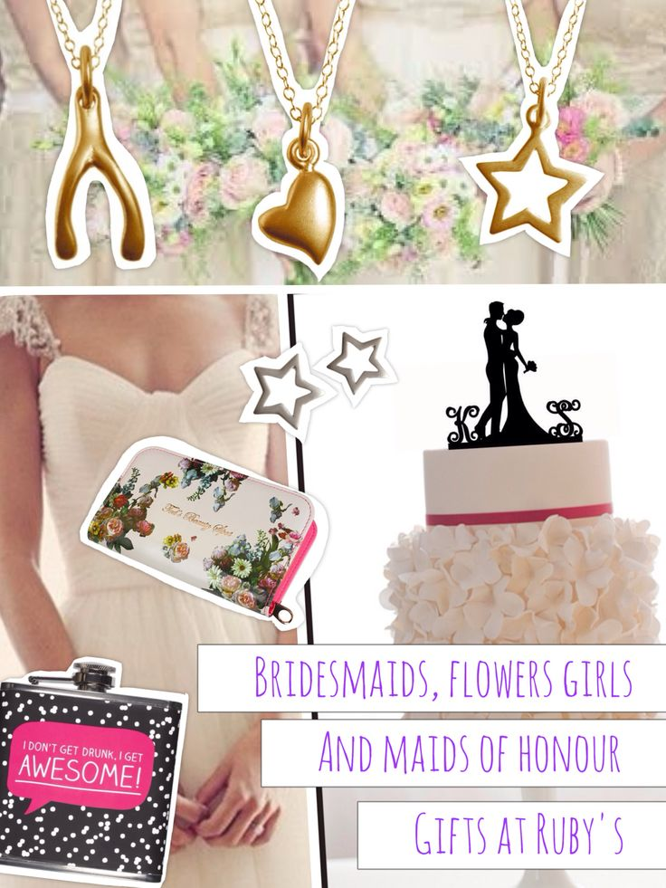 Perfect little treasures for bridesmaids, maid of honor and flower girls
