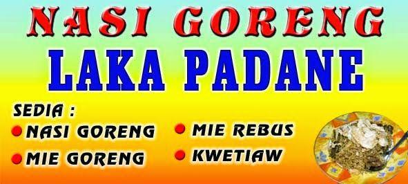 -IRM KOMPUTER- CETAK SPANDUK KAIN DIGITAL PRINTING: Spanduk Warung Nasi Goreng Laka Padane