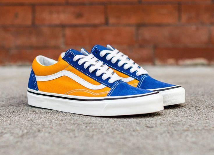 basket-vans-old-skool-36-dx-jaune-et-bleue-VA38G2R1V (3) | Vans ...