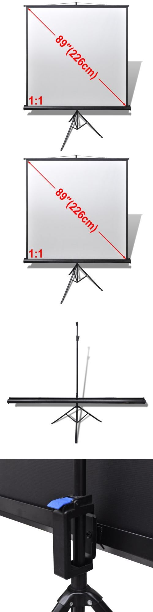Projection Screens and Material: 89 1:1 Portable Projector Screen Matte White Manual Pull Down Tripod Theater -> BUY IT NOW ONLY: $59.99 on eBay!