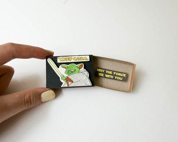 Yoda Card/ Star War Card/ Keep Calm Card/ May the force be with you/ OT034