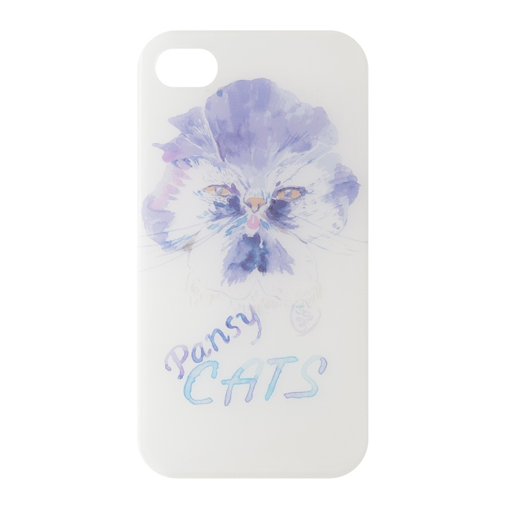 """""""PANSY CATS""""    kanvas products® x KAYO SATO    iPhone Cases by Fashion Designers and Creators,    SUMMER 2012"""