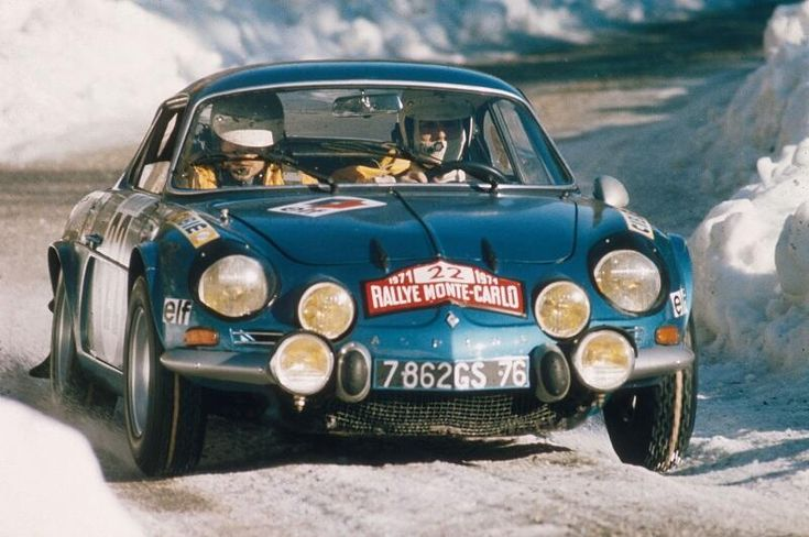 Renault Alpine A110 Berlinette, which won the very first WRC rally held at Monte Carlo in 1973.