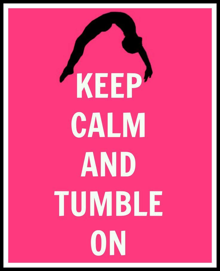 keep calm and tumble on gymnastics digital print keep