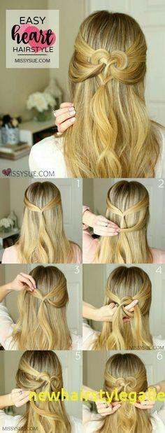 Elegante süße Frisuren 5 Minuten Handwerk