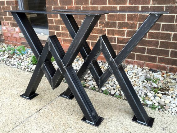 Diamond Dining Table Steel Sturdy Legs. Very Heavy Duty Modern Table Legs. This…