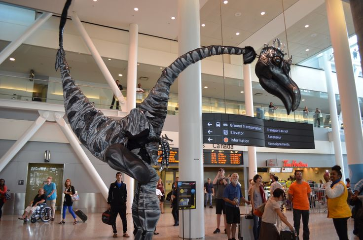 On August 19, Toronto Pearson was full of wild wacky talent as some of the very best in international street performers marked the start of Scotiabank BuskerFest Toronto 2013, including our giant dinosaur friend!