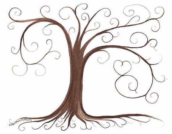 Thumbprint tree guestbook and trees on pinterest for Friendship tree template