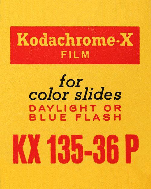 Kodak Kodachrome-X - Vintage Film Box - 35mm Film - Ilford