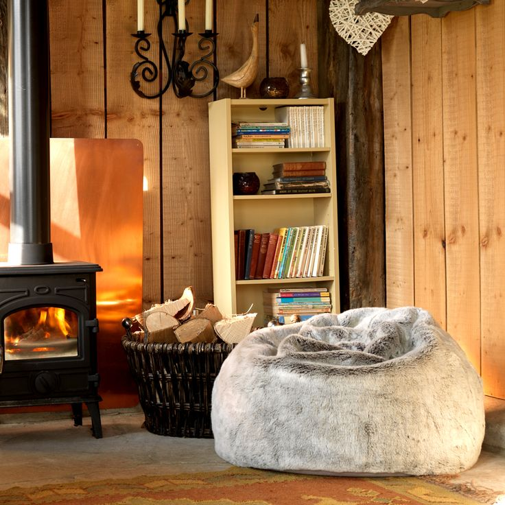 Hygge decor: Comfort is key in any home so ensure it's as cosy as possible with a deluxe faux fur bean bag, which will also add a modern touch to your interior. (Photo: BeanBagBazaar). Find more ideas at housebeautiful.co.uk