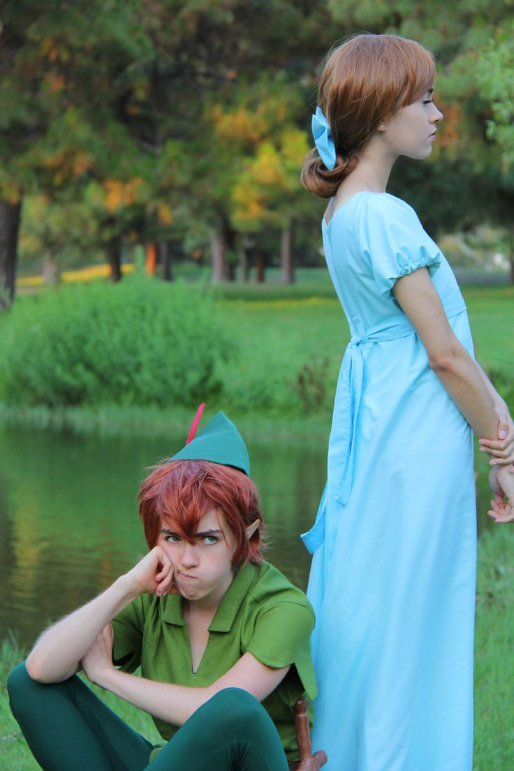 Who Needs Mothers by Theelfinartist.deviantart.com on @deviantART - This cosplay of Wendy and Peter Pan is adorable! Uploaded by the Peter cosplayer.