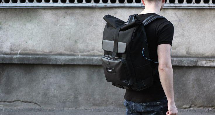 Черный рюкзак мужской. Туристический рюкзак. Большой городской мужской рюкзак HARVEST - Solver2 | Men's Black Backpack. Canvas Backpacks.  Men's Leather Canvas Backpack, Large Bag Travel Rucksack