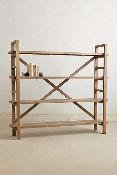 wooden bookcase-- love!