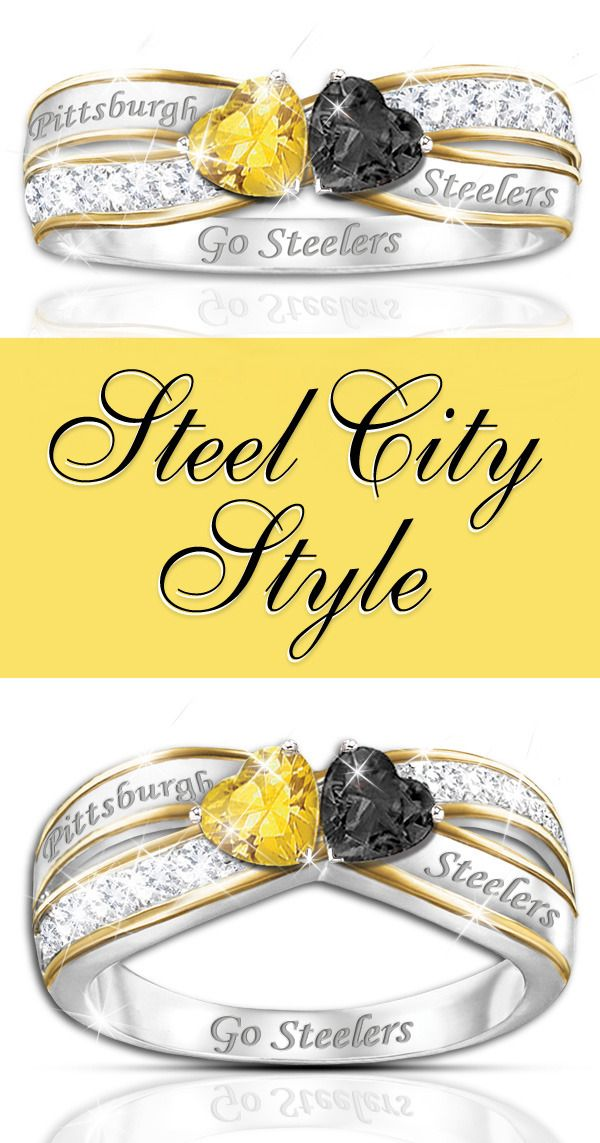 Steel City Style  Love your Steelers? Make your passion part of your fashion with our NFL-licensed Pittsburgh Steelers ring.