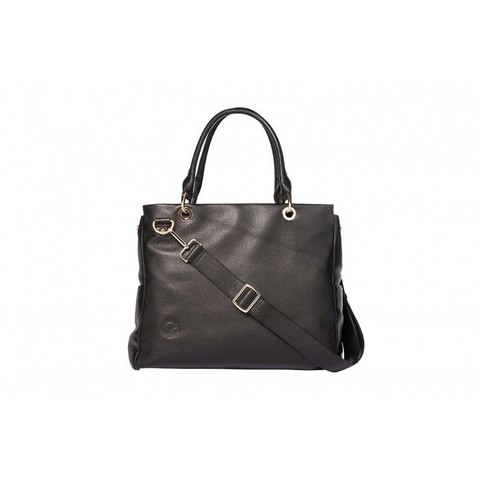 Oemi Baby Leather Diaper Bag - Parkside - Front